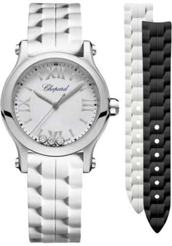 Chopard Watches - Happy Sport Round - 30mm - Stainless Steel - Style No: 278590-3001
