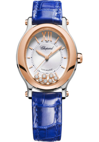 Chopard Watches - Happy Sport Oval - Steel and Rose Gold - Style No: 278602-6001