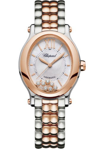 Chopard Watches - Happy Sport Oval - Steel and Rose Gold - Style No: 278602-6002