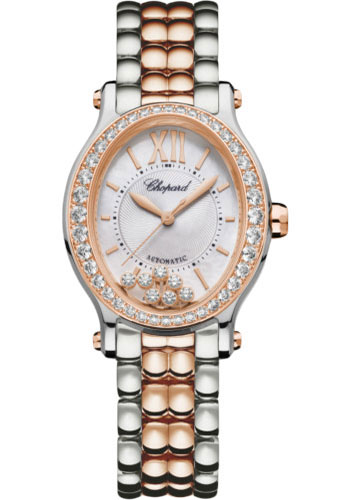 Chopard Watches - Happy Sport Oval - Steel and Rose Gold - Style No: 278602-6004