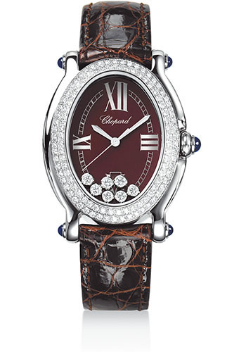 Chopard Watches - Happy Sport Oval Steel And White Gold - Style No: 278953-2004