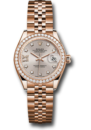 Rolex Watches - Datejust Lady 28 Everose Gold - Diamond Bezel - Jubilee Bracelet - Style No: 279135RBR s9dix8dj