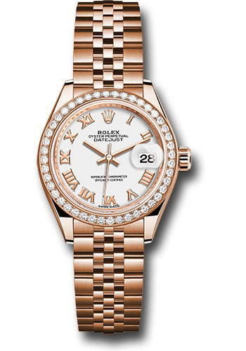 Rolex Watches - Datejust Lady 28 Everose Gold - Diamond Bezel - Jubilee Bracelet - Style No: 279135RBR wrj