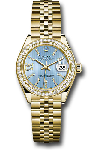 Rolex Watches - Datejust Lady 28 Yellow Gold - Diamond Bezel - Jubilee Bracelet - Style No: 279138RBR cbls36dix8dj