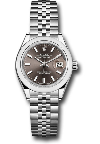 Rolex Watches - Datejust Lady 28 Stainless Steel - Domed Bezel - Jubilee - Style No: 279160 dgij