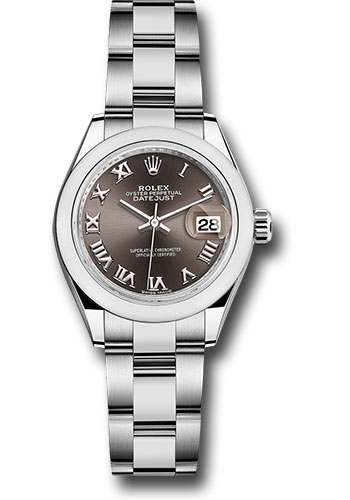Rolex Watches - Datejust Lady 28 Stainless Steel - Domed Bezel - Oyster - Style No: 279160 dgro