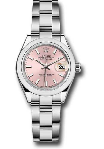 Rolex Watches - Datejust Lady 28 Stainless Steel - Domed Bezel - Oyster - Style No: 279160 pio