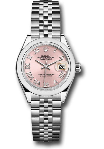 Rolex Watches - Datejust Lady 28 Stainless Steel - Domed Bezel - Jubilee - Style No: 279160 prj