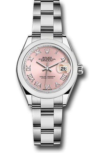 Rolex Watches - Datejust Lady 28 Stainless Steel - Domed Bezel - Oyster - Style No: 279160 pro