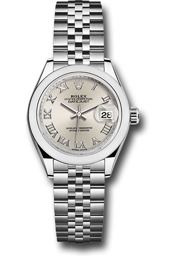 Rolex Watches - Datejust Lady 28 Stainless Steel - Domed Bezel - Jubilee - Style No: 279160 srj