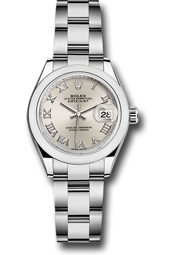 Rolex Watches - Datejust Lady 28 Stainless Steel - Domed Bezel - Oyster - Style No: 279160 sro