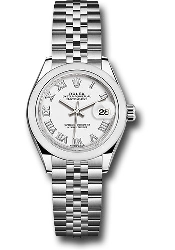 Rolex Watches - Datejust Lady 28 Stainless Steel - Domed Bezel - Jubilee - Style No: 279160 wrj