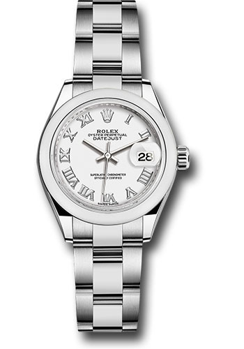 Rolex Watches - Datejust Lady 28 Stainless Steel - Domed Bezel - Oyster - Style No: 279160 wro