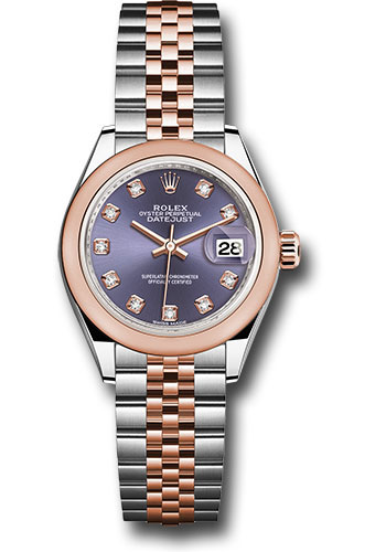 Rolex Watches - Datejust Lady 28 Steel and Everose Gold - Domed Bezel - Jubilee - Style No: 279161 audj
