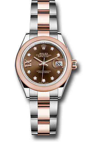 Rolex Watches - Datejust Lady 28 Steel and Everose Gold - Domed Bezel - Oyster - Style No: 279161 cho9dix8do