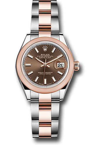 Rolex Watches - Datejust Lady 28 Steel and Everose Gold - Domed Bezel - Oyster - Style No: 279161 choio