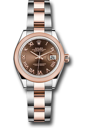 Rolex Watches - Datejust Lady 28 Steel and Everose Gold - Domed Bezel - Oyster - Style No: 279161 choro