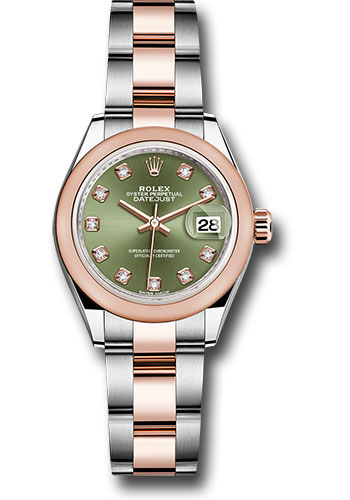 Rolex Watches - Datejust Lady 28 Steel and Everose Gold - Domed Bezel - Oyster - Style No: 279161 ogdo