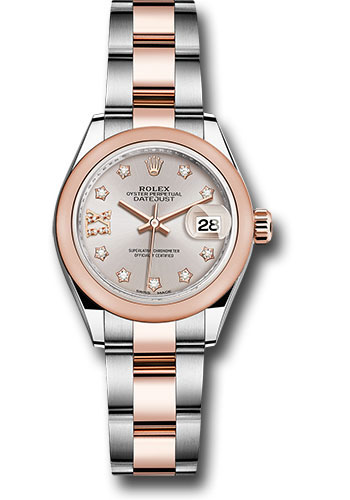 Rolex Watches - Datejust Lady 28 Steel and Everose Gold - Domed Bezel - Oyster - Style No: 279161 su9dix8do