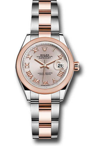 Rolex Watches - Datejust Lady 28 Steel and Everose Gold - Domed Bezel - Oyster - Style No: 279161 suro