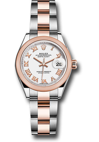 Rolex Watches - Datejust Lady 28 Steel and Everose Gold - Domed Bezel - Oyster - Style No: 279161 wro
