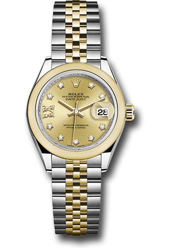 Rolex Watches - Datejust Lady 28 Steel and Yellow Gold - Domed Bezel - Jubilee - Style No: 279163 ch9dix8dj