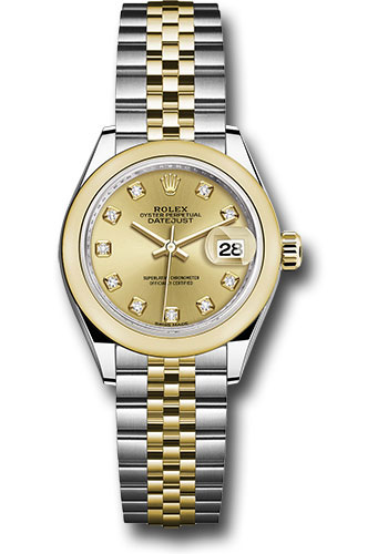 Rolex Watches - Datejust Lady 28 Steel and Yellow Gold - Domed Bezel - Jubilee - Style No: 279163 chdj