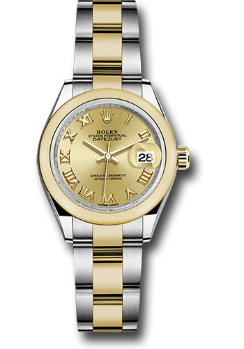 Rolex Watches - Datejust Lady 28 Steel and Yellow Gold - Domed Bezel - Oyster - Style No: 279163 chro