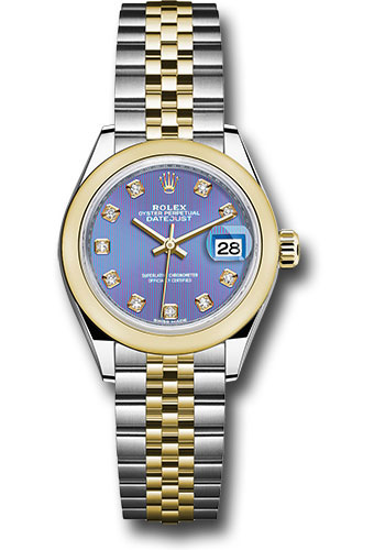 Rolex Watches - Datejust Lady 28 Steel and Yellow Gold - Domed Bezel - Jubilee - Style No: 279163 ldj