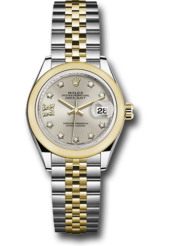 Rolex Watches - Datejust Lady 28 Steel and Yellow Gold - Domed Bezel - Jubilee - Style No: 279163 s9dix8dj