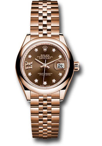 Rolex Watches - Datejust Lady 28 Everose Gold - Domed Bezel - Jubilee Bracelet - Style No: 279165 cho9dix8dj