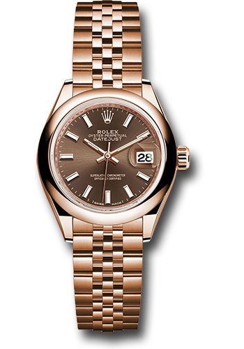 Rolex Watches - Datejust Lady 28 Everose Gold - Domed Bezel - Jubilee Bracelet - Style No: 279165 choij