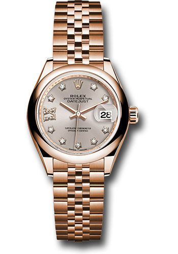 Rolex Watches - Datejust Lady 28 Everose Gold - Domed Bezel - Jubilee Bracelet - Style No: 279165 s9dix8dj
