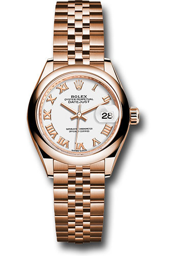 Rolex Watches - Datejust Lady 28 Everose Gold - Domed Bezel - Jubilee Bracelet - Style No: 279165 wrj