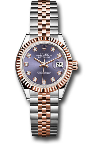 Rolex Watches - Datejust Lady 28 Steel and Everose Gold - Fluted Bezel - Jubilee - Style No: 279171 audj