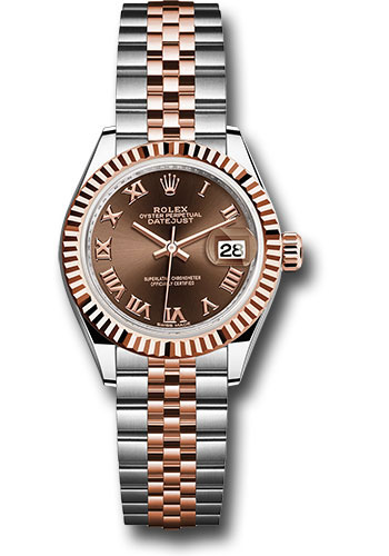 Rolex Watches - Datejust Lady 28 Steel and Everose Gold - Fluted Bezel - Jubilee - Style No: 279171 chorj