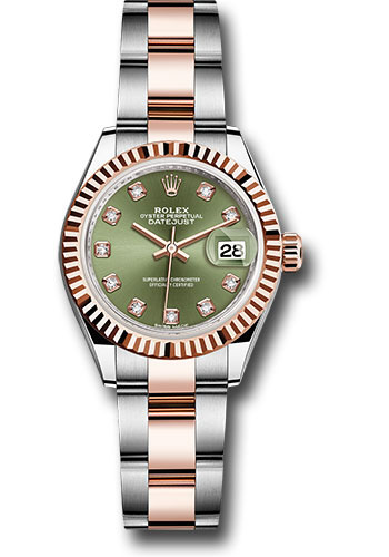 Rolex Watches - Datejust Lady 28 Steel and Everose Gold - Fluted Bezel - Oyster - Style No: 279171 ogdo