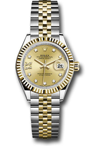 Rolex Watches - Datejust Lady 28 Steel and Yellow Gold - Fluted Bezel - Jubilee - Style No: 279173 ch9dix8dj