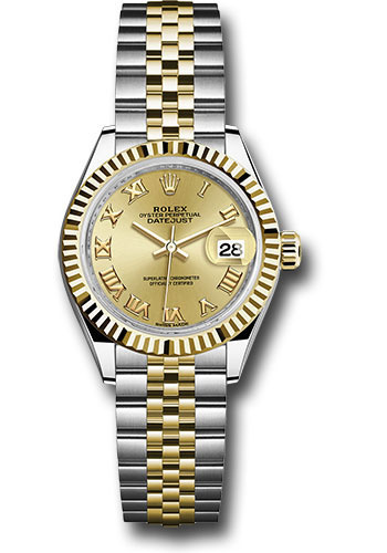 Rolex Watches - Datejust Lady 28 Steel and Yellow Gold - Fluted Bezel - Jubilee - Style No: 279173 chrj