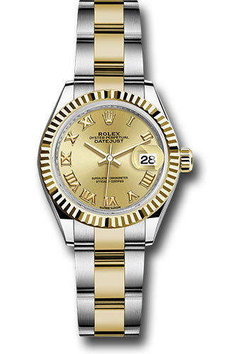 Rolex Watches - Datejust Lady 28 Steel and Yellow Gold - Fluted Bezel - Oyster - Style No: 279173 chro