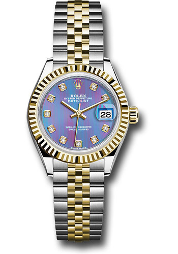 Rolex Watches - Datejust Lady 28 Steel and Yellow Gold - Fluted Bezel - Jubilee - Style No: 279173 ldj