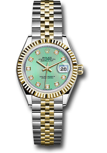 Rolex Watches - Datejust Lady 28 Steel and Yellow Gold - Fluted Bezel - Jubilee - Style No: 279173 mgdj