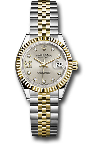 Rolex Watches - Datejust Lady 28 Steel and Yellow Gold - Fluted Bezel - Jubilee - Style No: 279173 s9dix8dj