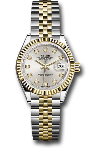 Rolex Watches - Datejust Lady 28 Steel and Yellow Gold - Fluted Bezel - Jubilee - Style No: 279173 sdj