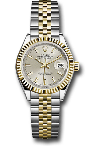 Rolex Watches - Datejust Lady 28 Steel and Yellow Gold - Fluted Bezel - Jubilee - Style No: 279173 sij