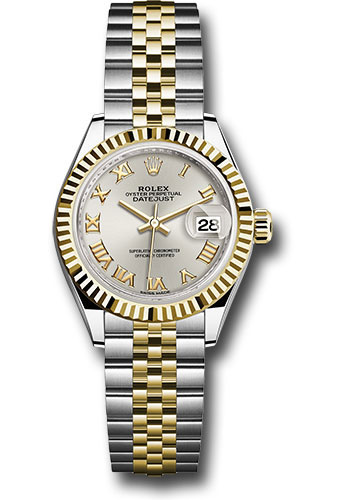 Rolex Watches - Datejust Lady 28 Steel and Yellow Gold - Fluted Bezel - Jubilee - Style No: 279173 srj