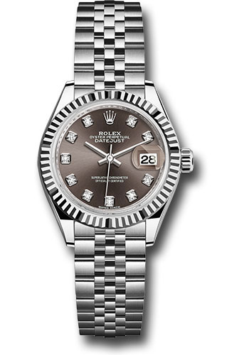 Rolex Watches - Datejust Lady 28 Stainless Steel - Fluted Bezel - Jubilee - Style No: 279174 dgdj