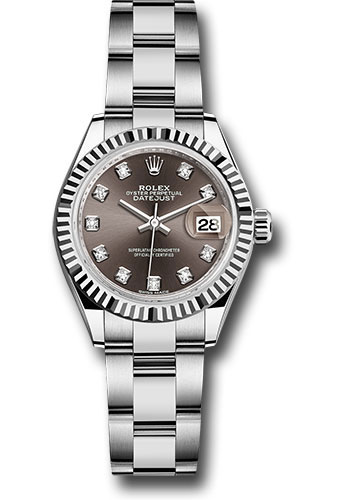Rolex Watches - Datejust Lady 28 Stainless Steel - Fluted Bezel - Oyster - Style No: 279174 dgdo