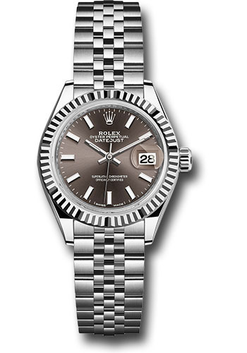 Rolex Watches - Datejust Lady 28 Stainless Steel - Fluted Bezel - Jubilee - Style No: 279174 dgij