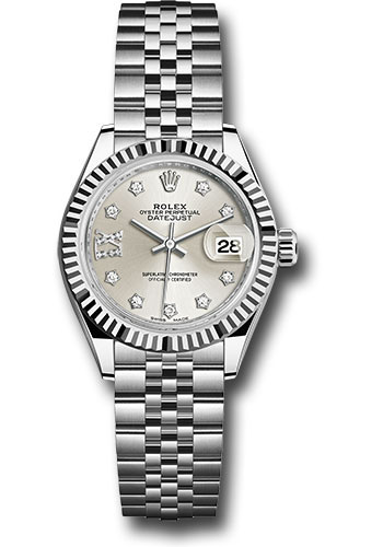 Rolex Watches - Datejust Lady 28 Stainless Steel - Fluted Bezel - Jubilee - Style No: 279174 s9dix8dj
